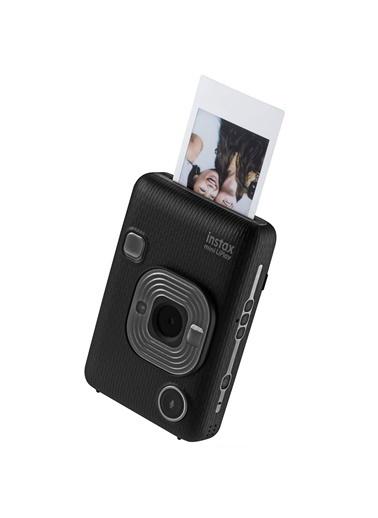 Fujifilm Instax mini LiPlay Hybrid Dark Gray Fotoğraf Makinesi Çantalı Hediye Seti 3 Gri